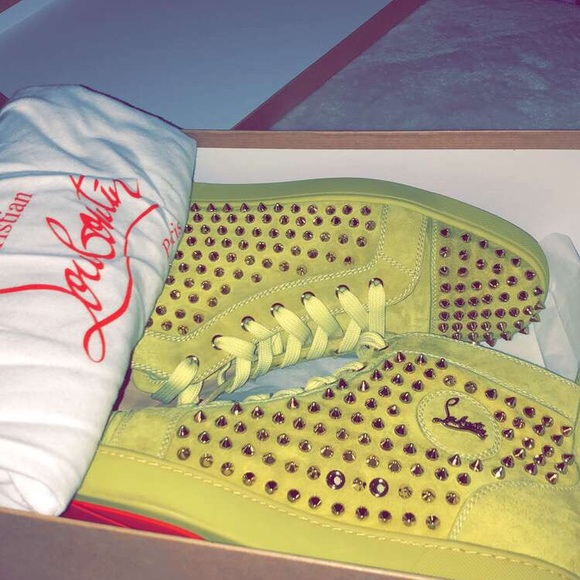 7d8b0016862 Python Yellow Christian Louboutin Spike Sneakers